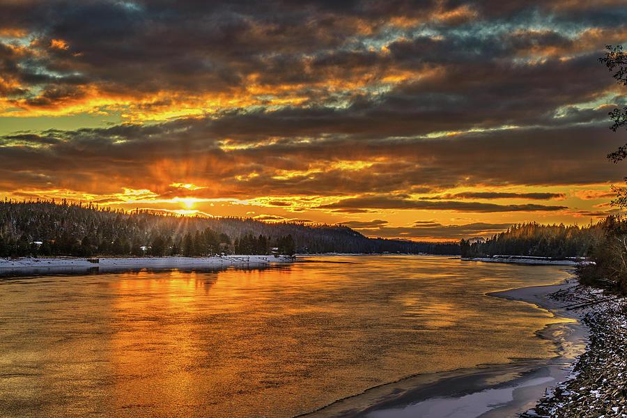 Pend Oreille River Sunset 2 Photograph