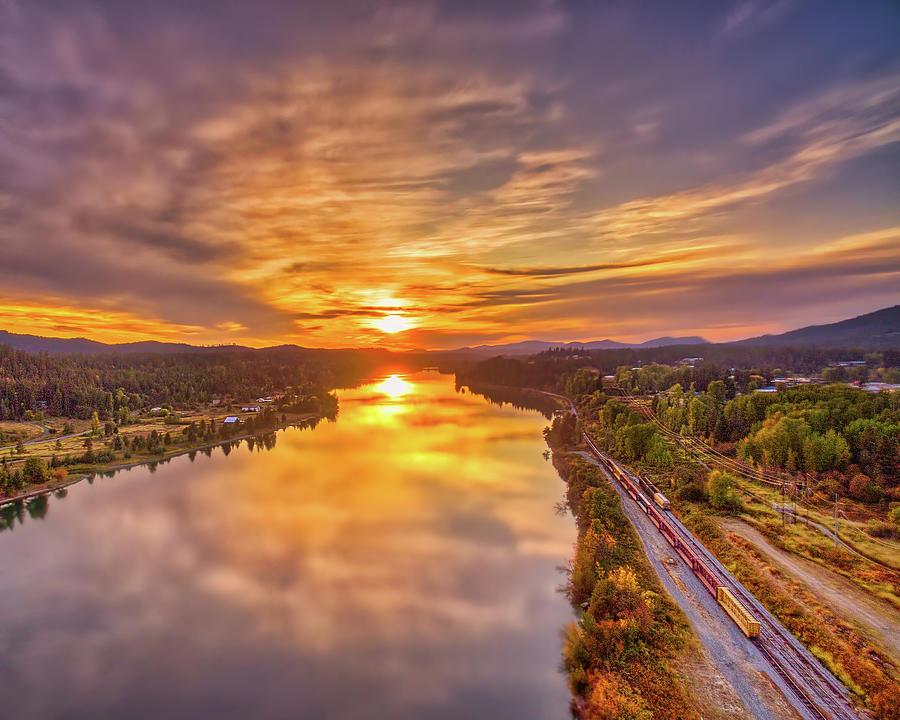 Pend Oreille River Sunset Photograph