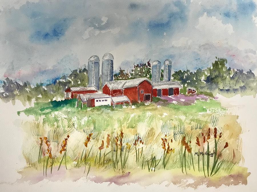 Farmhouse Painting - Pennsylvania Farm by Marita McVeigh