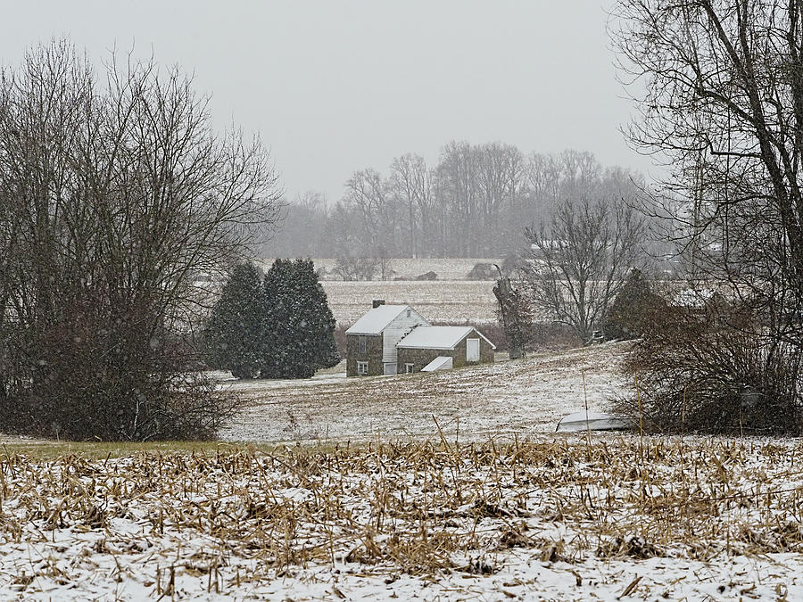 Pennsylvania Farm on a Snowy Day by William Jobes