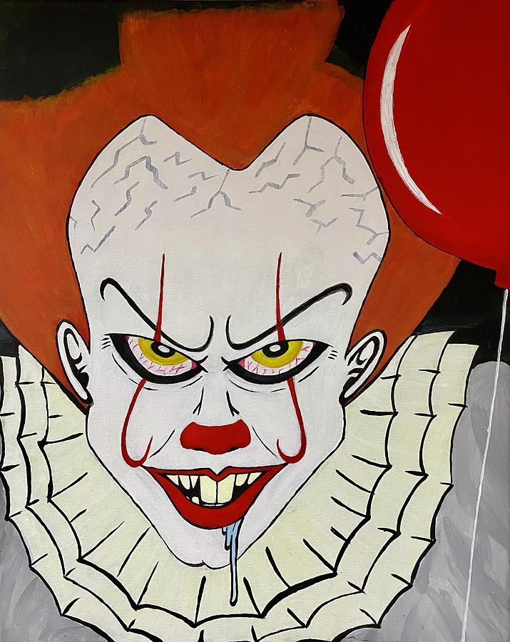 Pennywise Painting - Pennywise by Mike Boodram