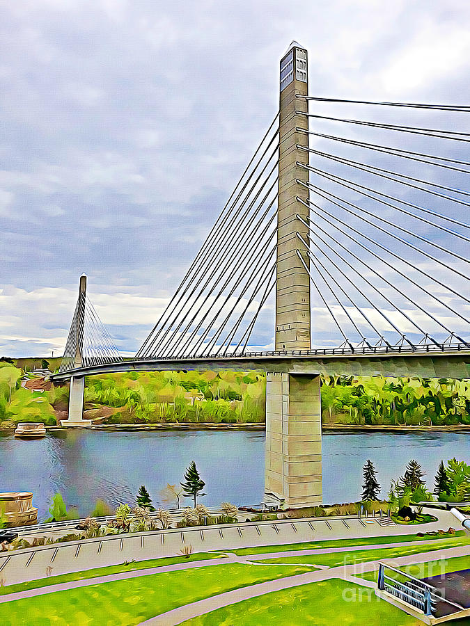 Penobscot Narrows Bridge by Tracy Ruckman