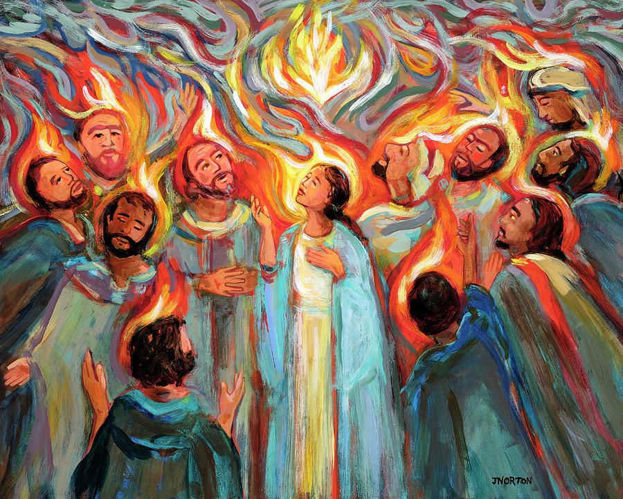 Pentecost Painting - Pentecost by Jen Norton
