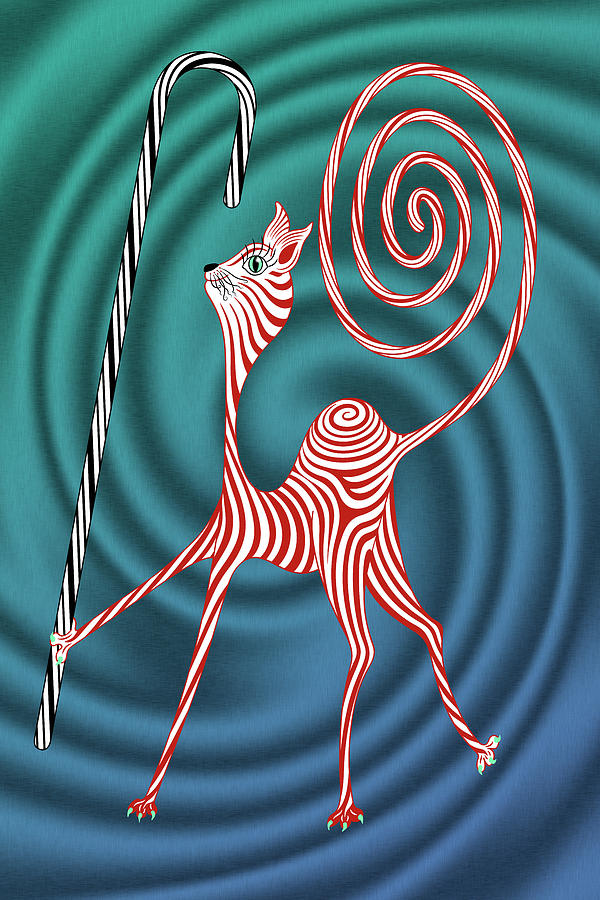 Peppermint Kitty Cane by Becky Titus