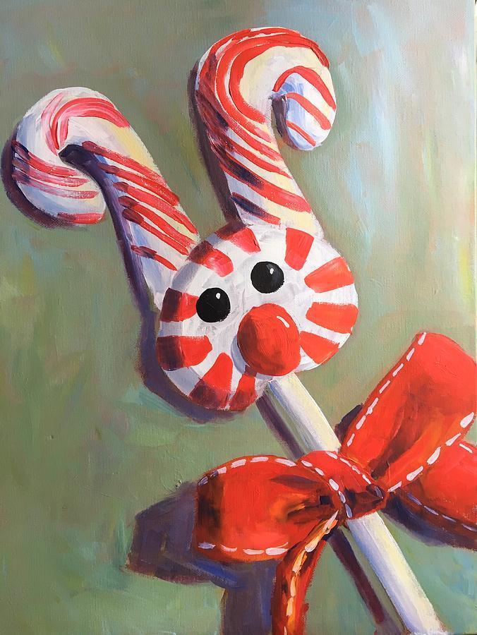 Peppermint Reindeer Painting