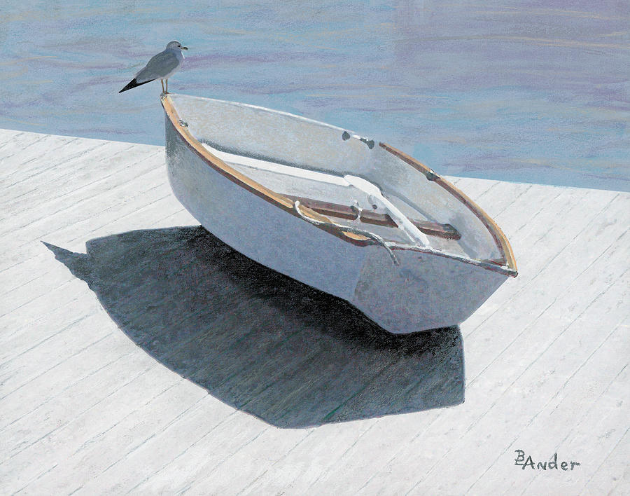 Seagull Drawing - Perch by Brent Ander