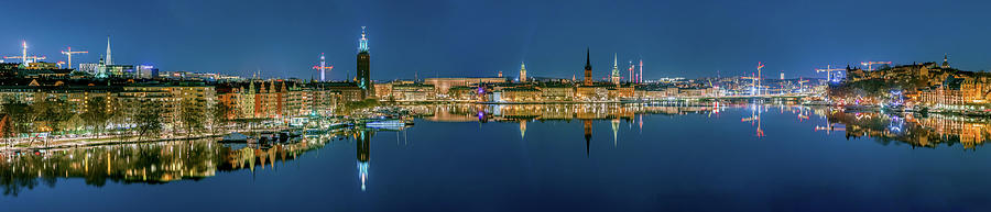 Stockholm Photograph - Perfect Stockholm and Gamla Stan reflection from a distant bridge by Dejan Kostic