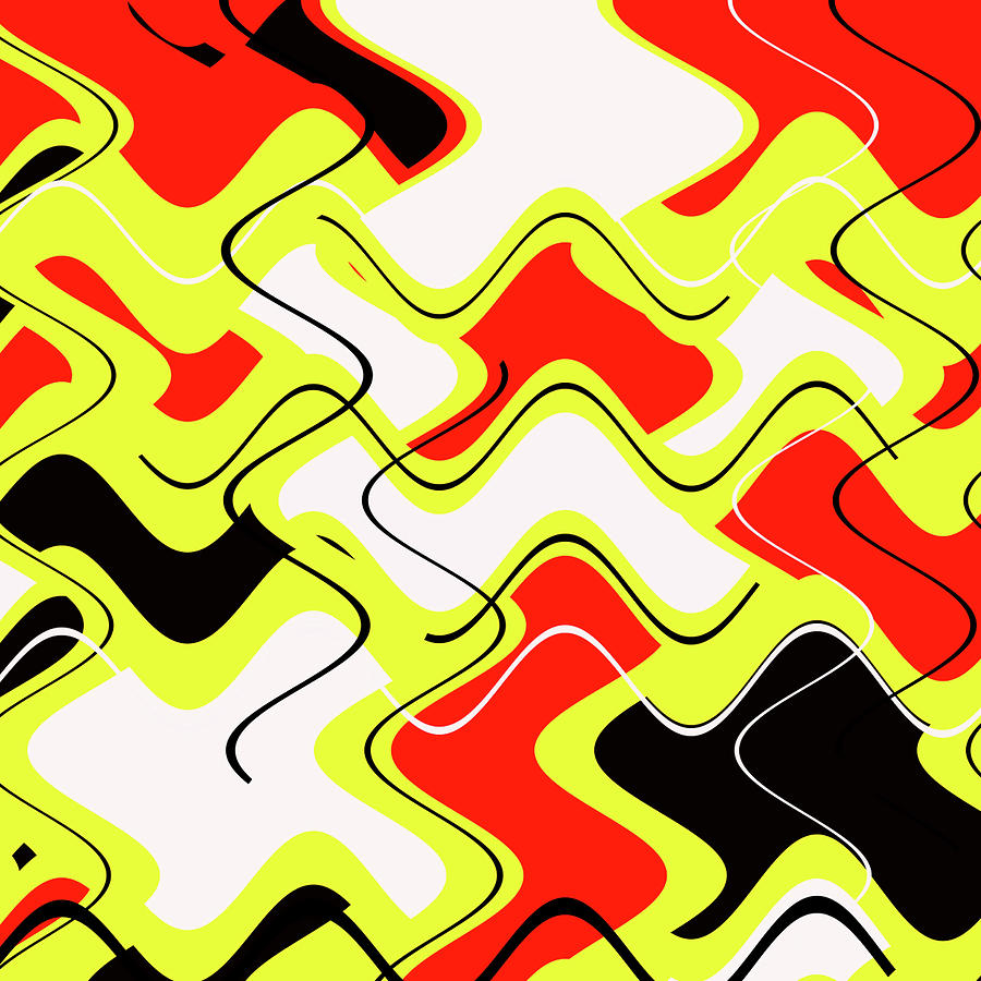 Abstract Digital Art - Perfectly Patterned by Jeremy Edsall