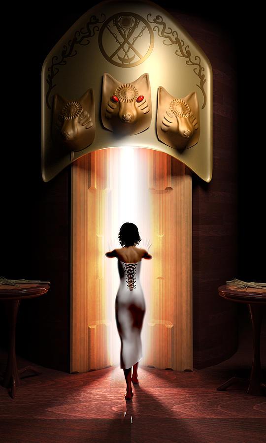 3d Digital Art - Persephone by Oscar Vago