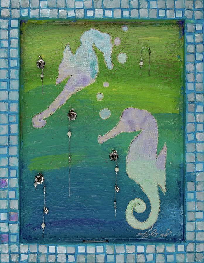 Seahorses Mixed Media - Perseverance Back by AliciaKay