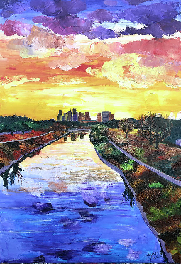 Houston Painting - Perspectives of the City by Lauren Luna