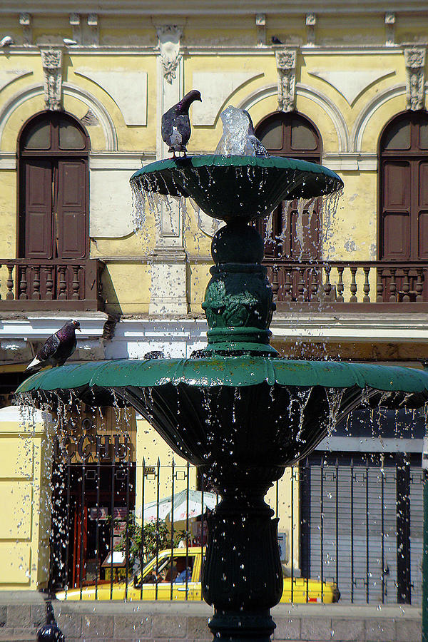 Peru Fountain Photograph by Karen Zuk Rosenblatt
