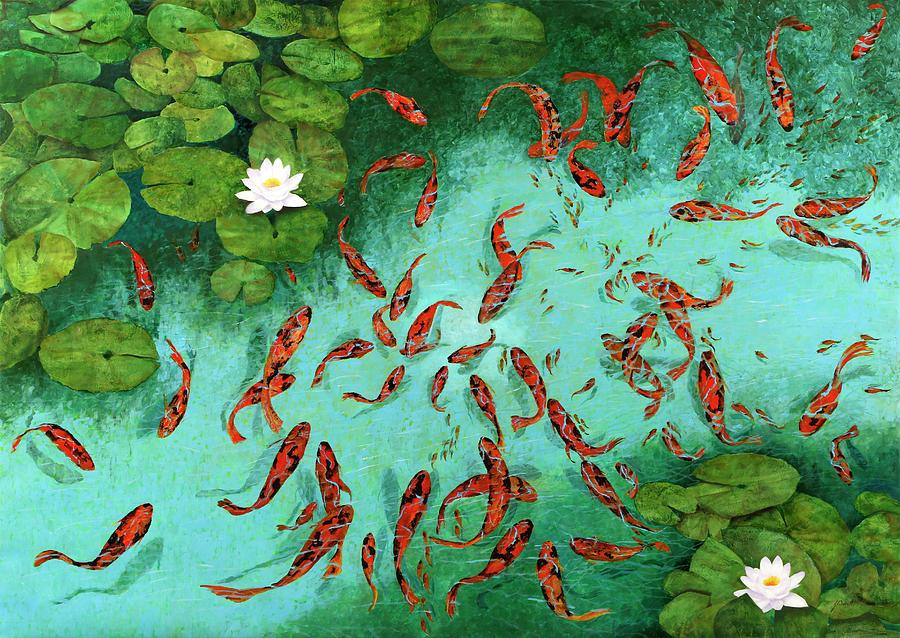Golden Fishes Painting - Pesci E Pescetti by Guido Borelli