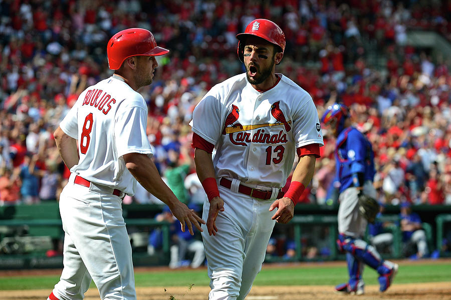 Peter Bourjos and Matt Carpenter Photograph by Jeff Curry