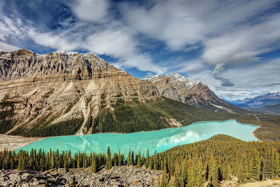 Peyto Lake  Alberta Canada Photograph