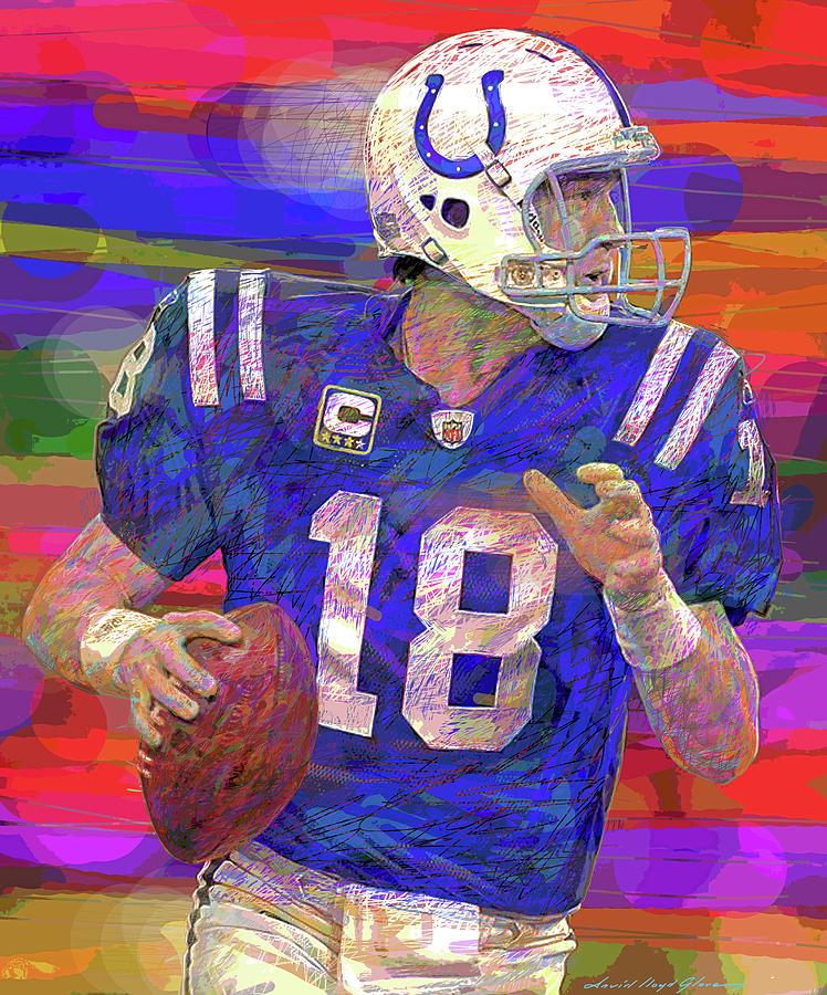 Peyton Manning Super Bowl Painting