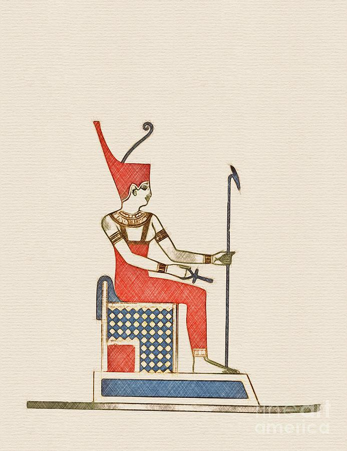Pharoah of Ancient Egypt by Esoterica Art Agency