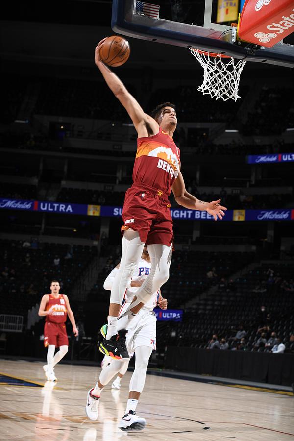 Philadelphia 76ers v Denver Nuggets Photograph by Garrett Ellwood