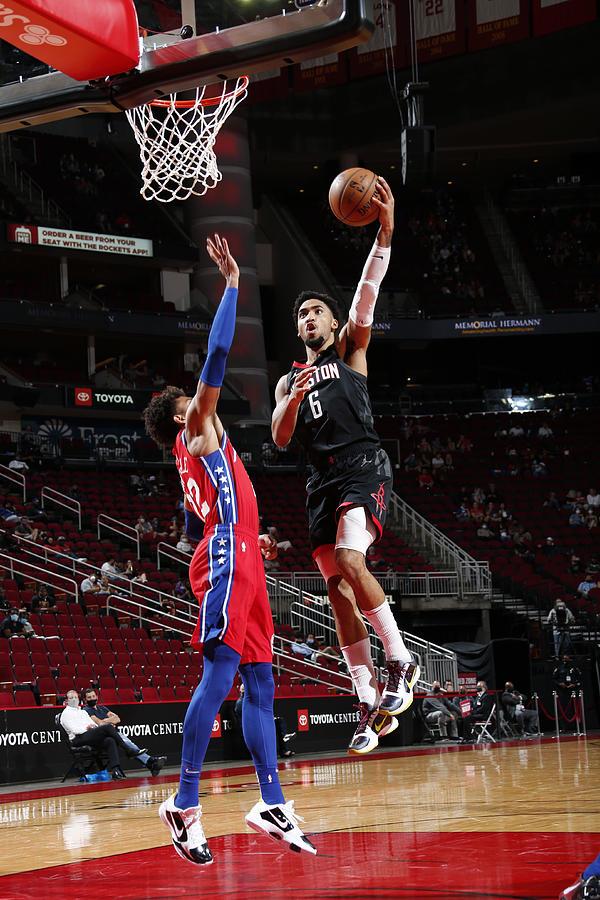 Philadelphia 76ers v Houston Rockets Photograph by Troy Fields