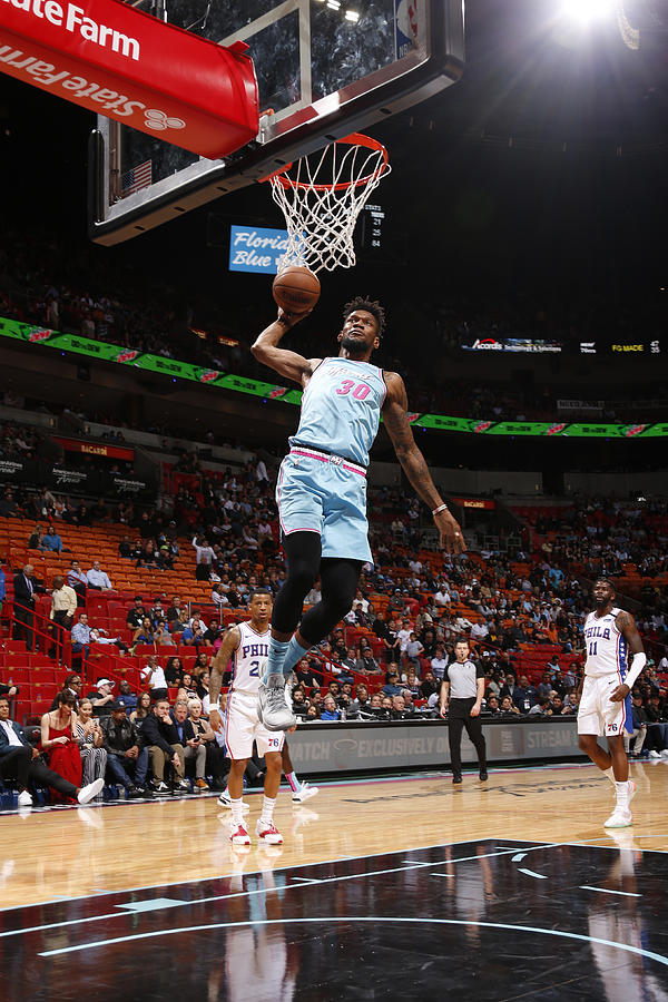 Philadelphia 76ers v Miami Heat Photograph by Oscar Baldizon