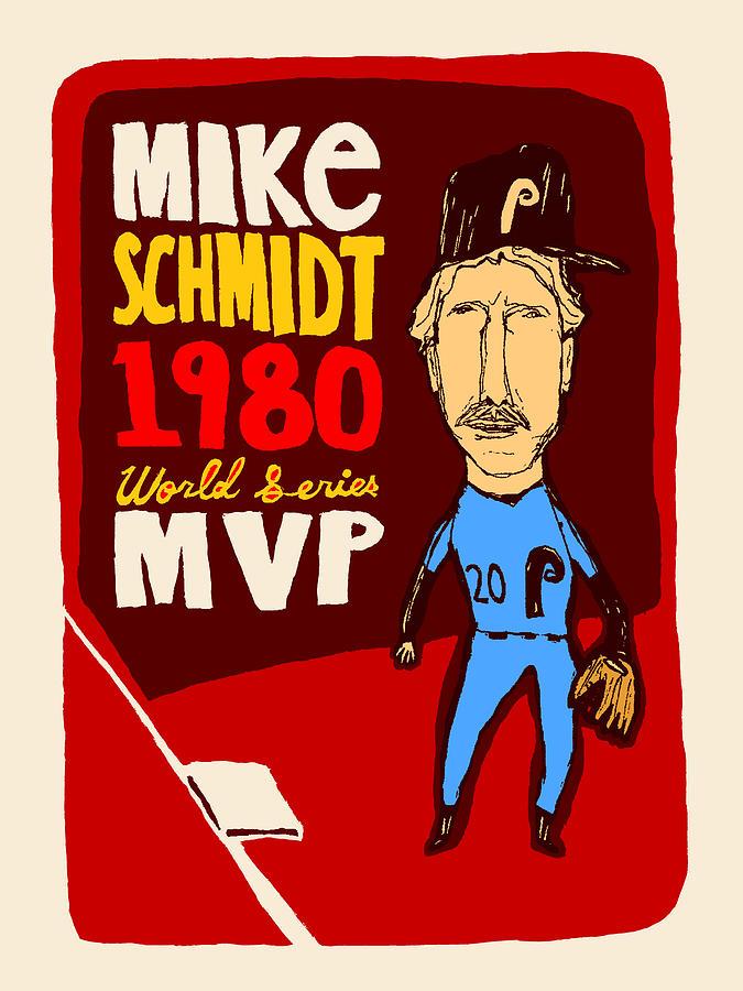 Mike Schmidt Mixed Media - Philadelphia Phillies - Mike Schmidt by JB Perkins