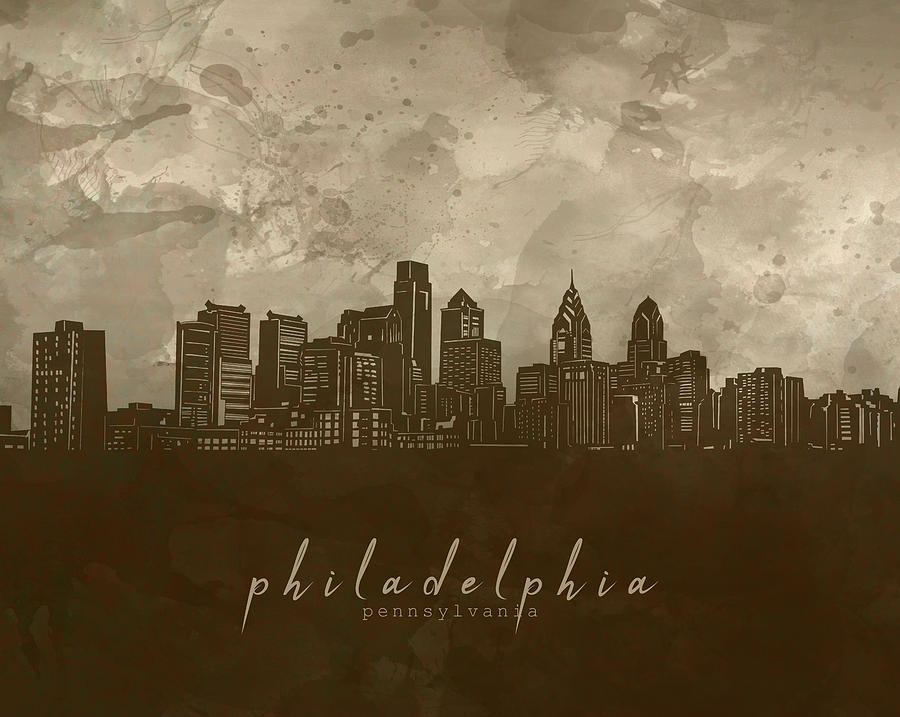 Philadelphia Skyline Panorama 4 Digital Art