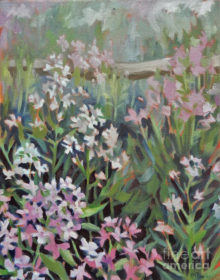 Phlox At The Fence Painting