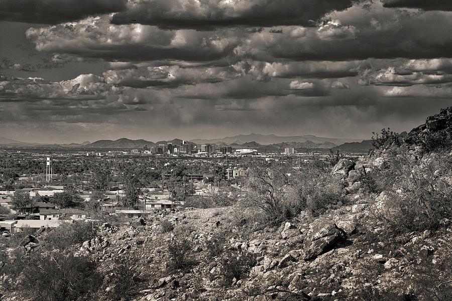 Phoenix, Arizona Black And White Photograph