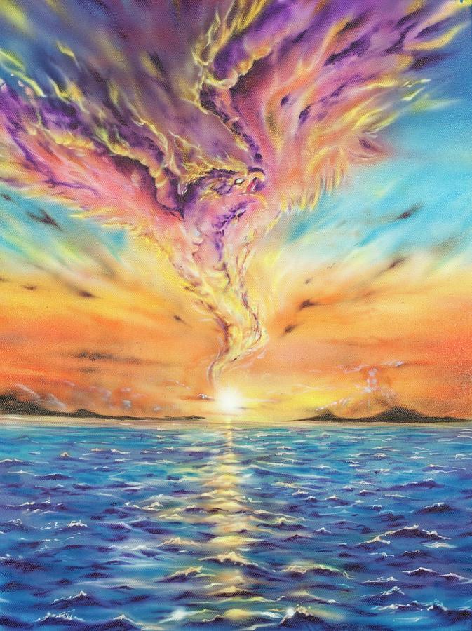 Phoenix Painting by Joel Salinas III