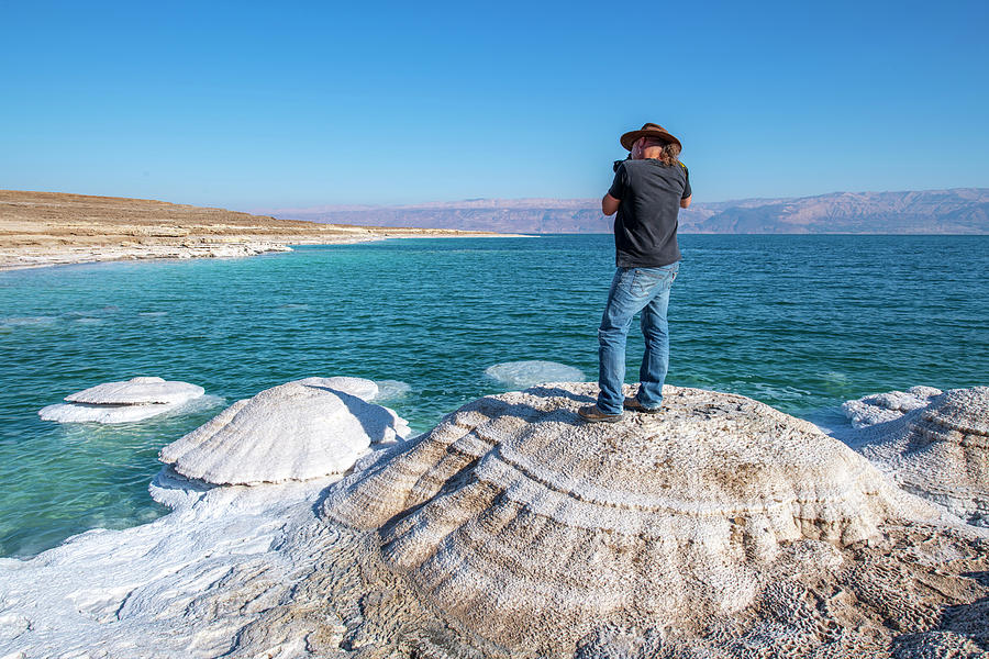 Photographer at the Dead Sea by Dubi Roman