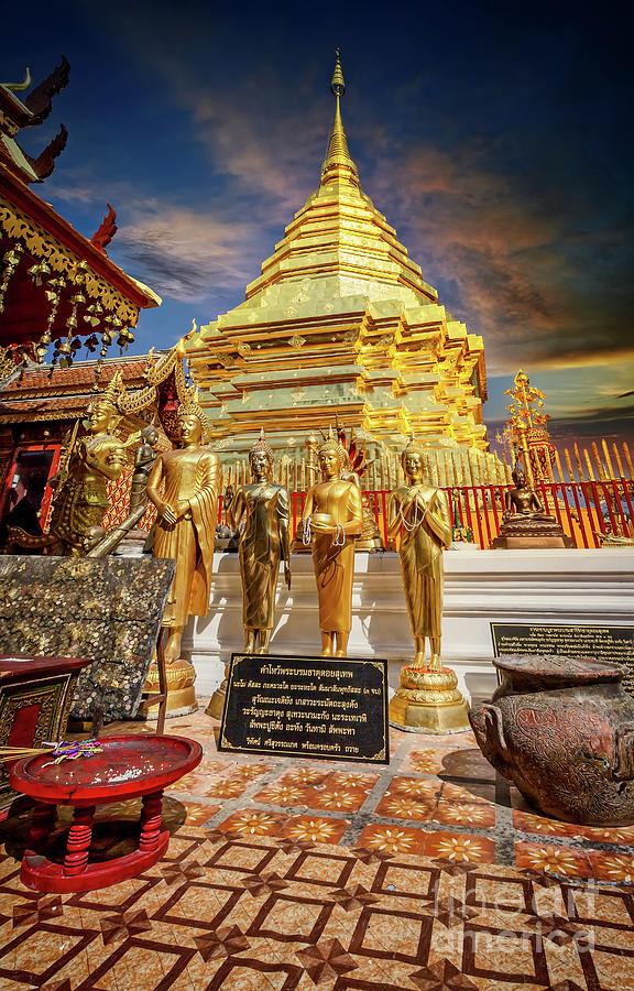 Phrathat Doi Suthep Temple Thailand by Adrian Evans