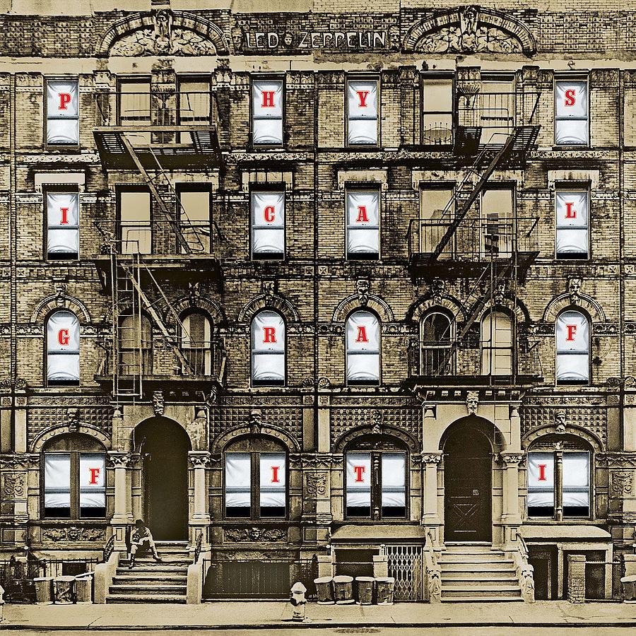 Album Digital Art - Physical Graffiti Remastered by Led Zeppelin by Poster Frame