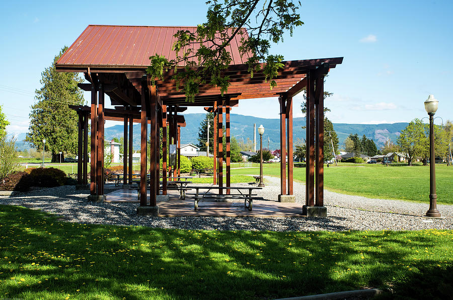 Picnic Shelter at Riverside Park by Tom Cochran