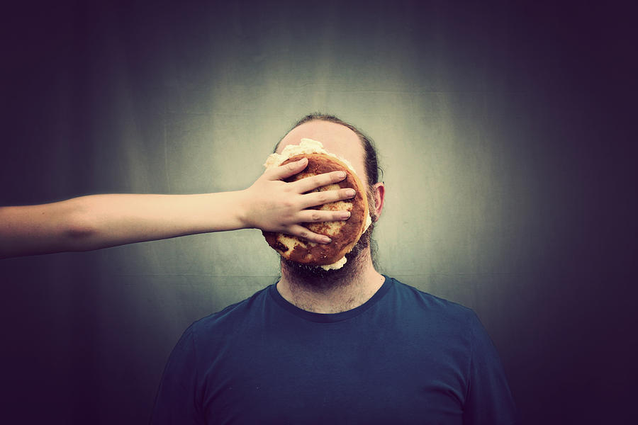 Pie on face Photograph by Scott MacBride