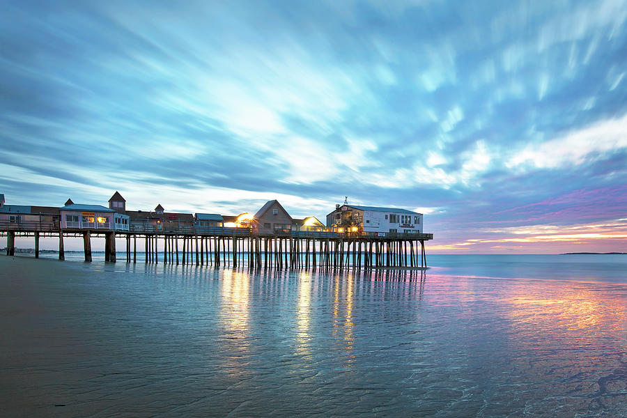 Old Orchard Beach Photograph - Pier at Dawn by Eric Gendron