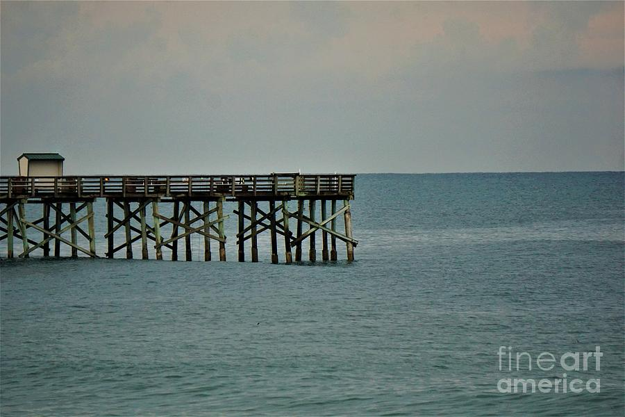 Pier at Flagler Beach Photograph by Jimmy Clark