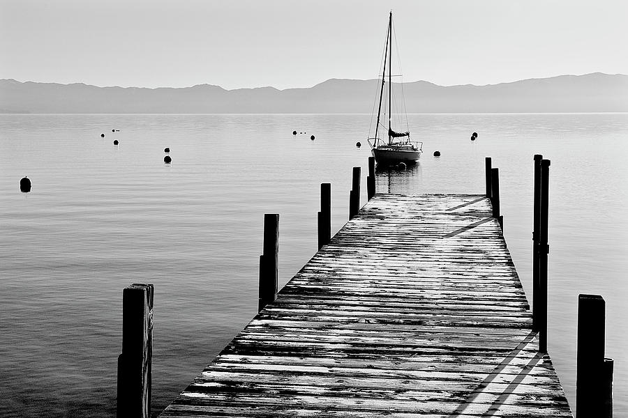 Pier Frost, Lake Tahoe Photograph