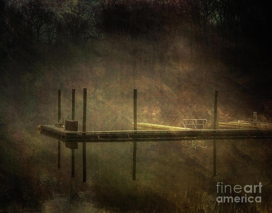 Pier in a fog by Izet Kapetanovic