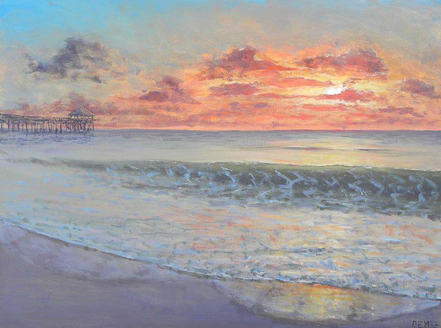 Pier Painting - Pier Sunrise by Paul Emig