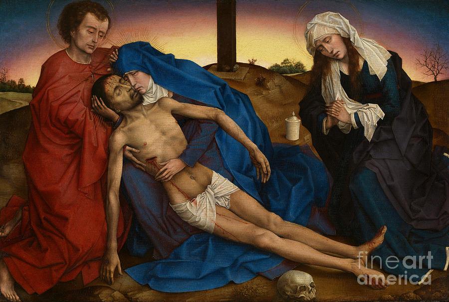 Pieta circa 1441 by Rogier van der Weyden