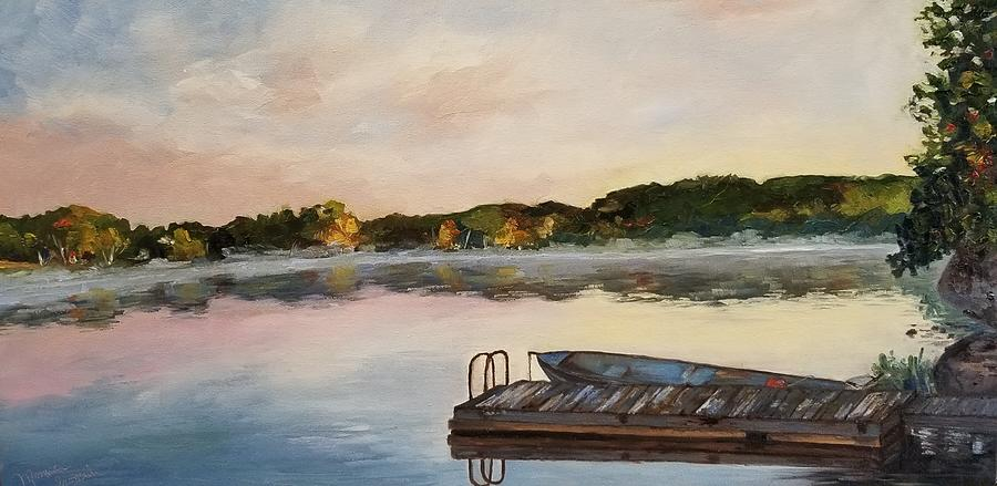 Landscape Painting - Pigeon Lake by Monica Ironside