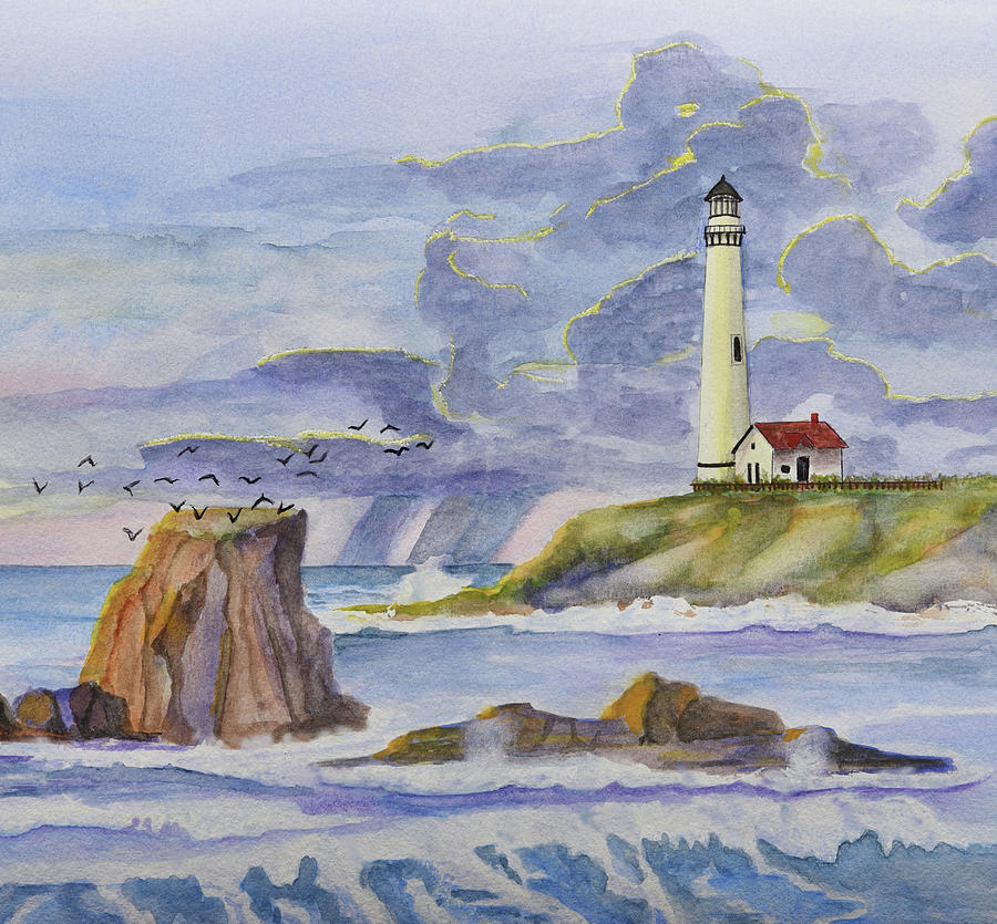 Pigeon Point Lighthouse Detail 1 by Linda Brody