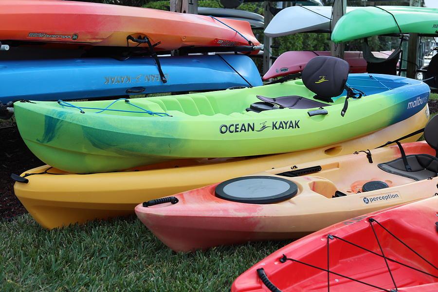 Pile Of Kayaks by Blair Damson