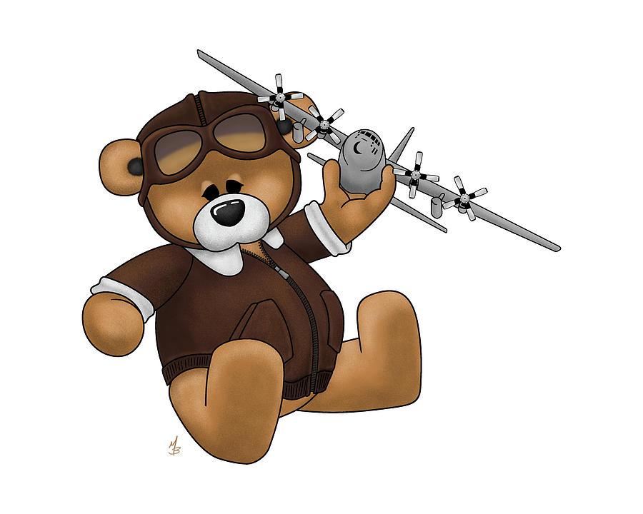 Pilot Bear - Playtime by Michael Brooks