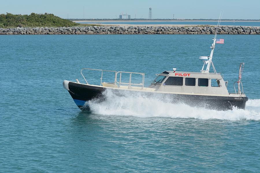 Pilot Boat at Cape Canaveral by Bradford Martin