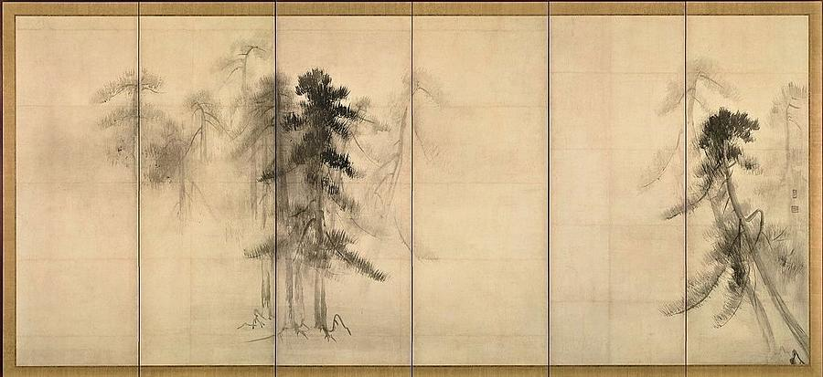 Pine Trees  Screen Painting