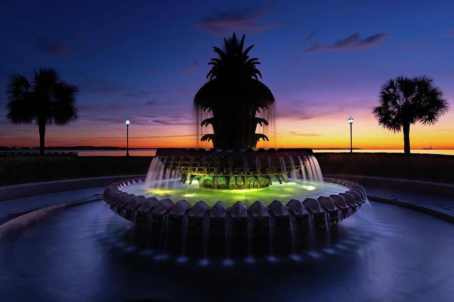 Pineapple Fountain Sunrise by Norma Brandsberg