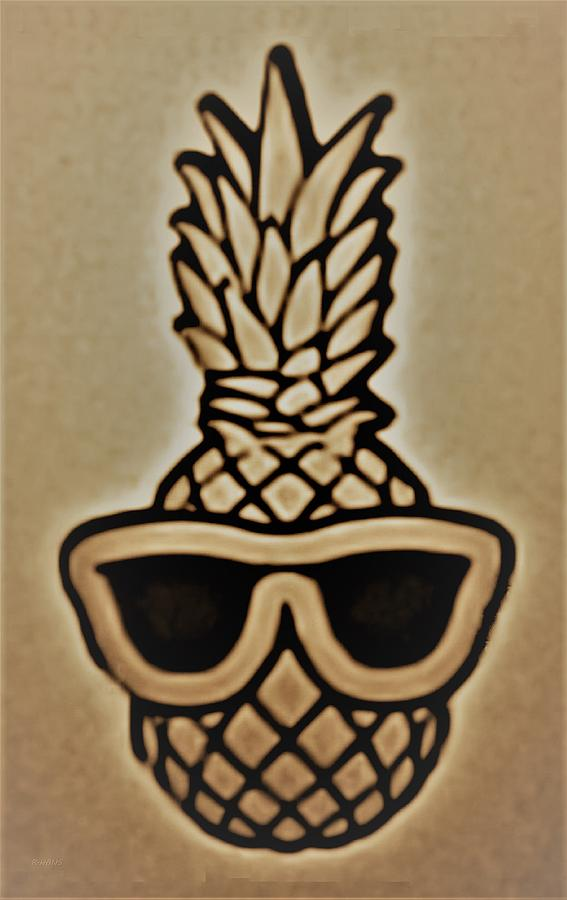 PINEAPPLE WITH SUNGLASSES by Rob Hans