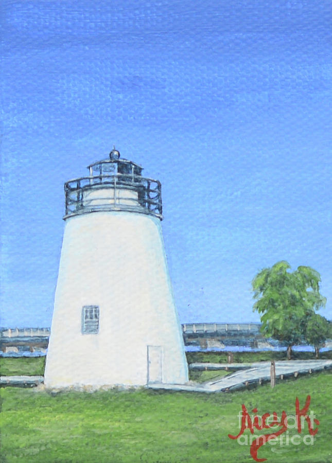 Piney Point Lighthouse Mini Artwork by Aicy Karbstein