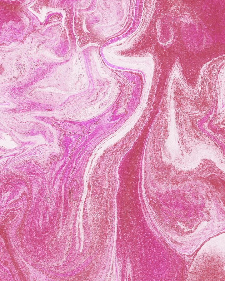Pink Agate Watercolor Stone Collection I Painting
